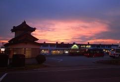 Sunset at Aizu-Wakamatsu Station